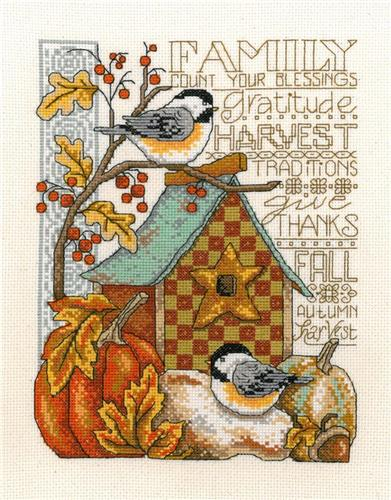Family Blessings Cross Stitch Chart