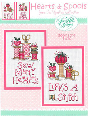 Hearts & Spools Cross Stitch Chart (Book 1)