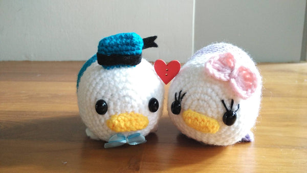 Guided Craft Project-Crochet Daisy and Donald Tsum Tsum