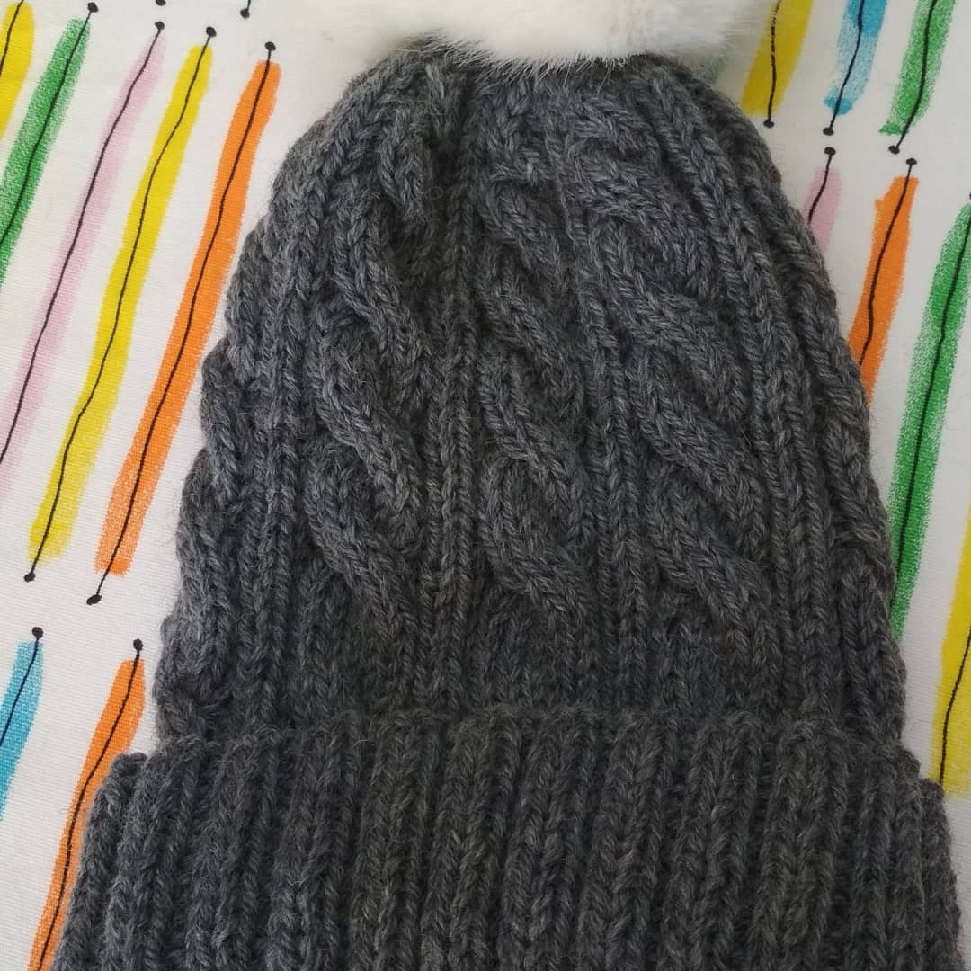 Guided Craft Project-Knit a Men's Cable Beanie