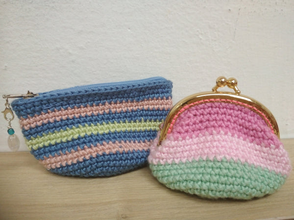 Guided Craft Project -Crochet A Coin Purse (Kissed-lock or Zip)