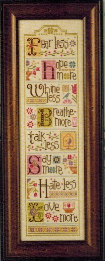Lizzie*Kate Less = More - Cross Stitch Charts