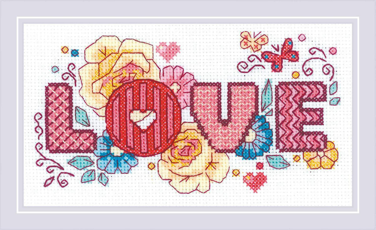 Riolis Love Cross Stitch Kit