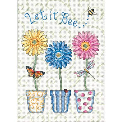 Let it Bee Cross Stitch Kit By Dimensions