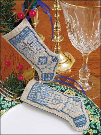 Linen Stocking-Love Cross Stitch Kit