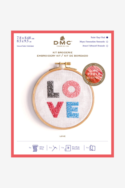 DMC Love Cross Stitch Kit