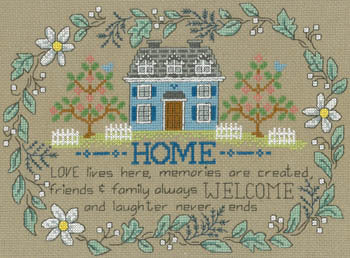 Love Live Here Cross Stitch Chart