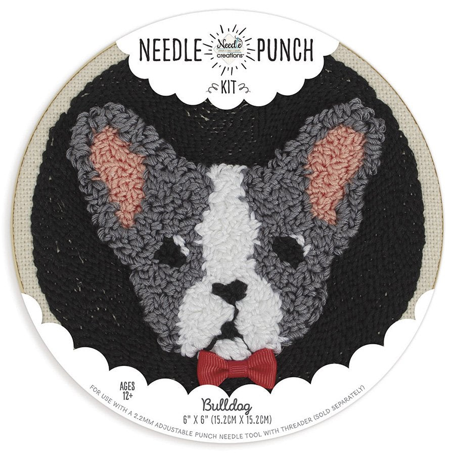 Bull Dog Punch Needle Kit by Needle Creations