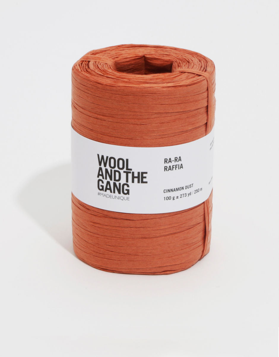 Wool And the Gang Ra-Ra Raffia Yarn Cinnamon Dust Colour