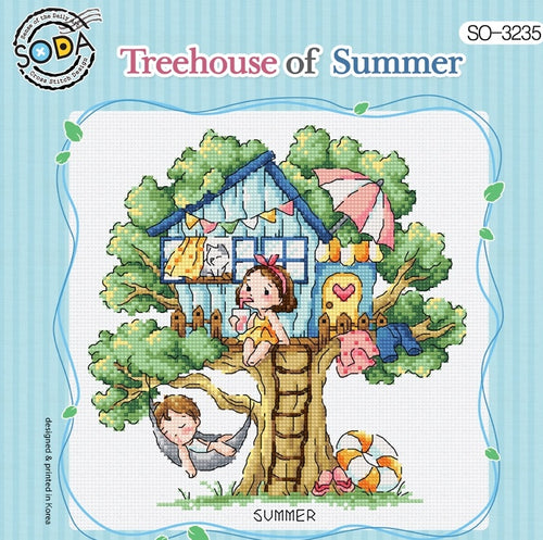 "SODA ""Tree House of Summer"" Cross Stitch Kit"