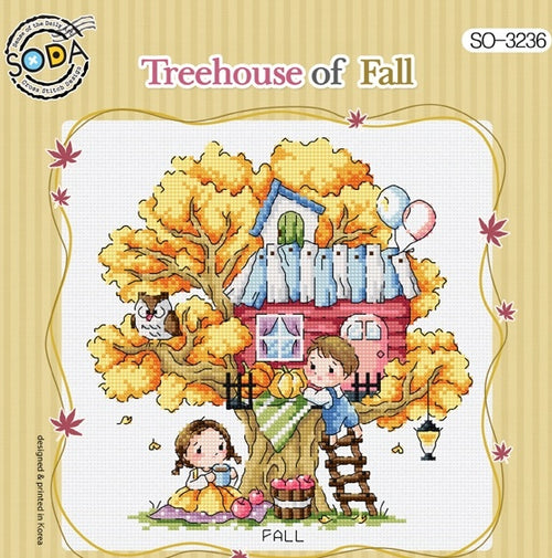 "SODA ""Tree House of Fall"" Cross Stitch Kit"