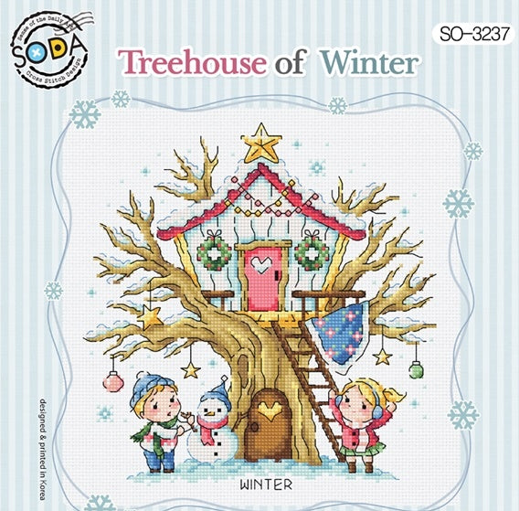 "SODA ""Tree House of Winter"" Cross Stitch Kit"