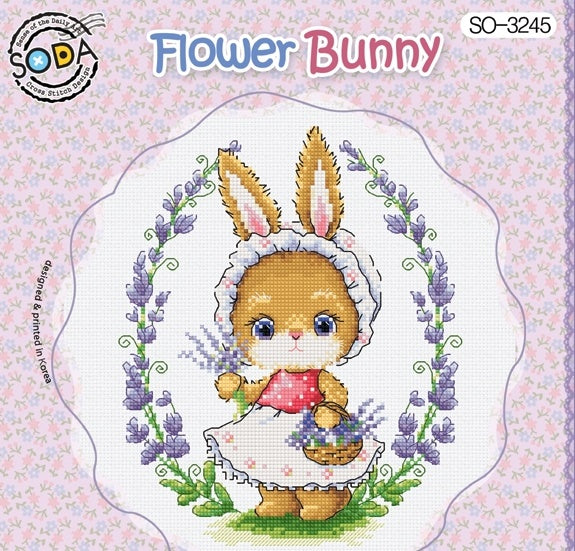 "SODA ""Flower Bunny"" Cross Stitch Kit"
