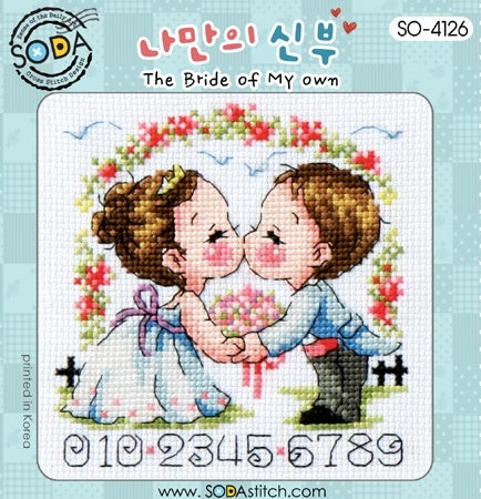 "SODA ""The Bride of My Own"" Cross Stitch Kit"