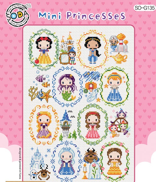 "SODA ""Mini Princesses"" Cross Stitch Kit"