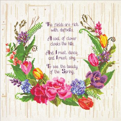 Spring Sentiments Cross Stitch Kit
