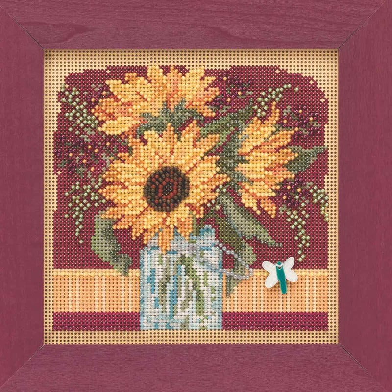 Mill Hill~Autumn Series~ Sunflower Bouquet Beads and Cross Stitch Kit