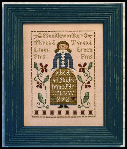The Sampler Lady Cross Stitch Chart