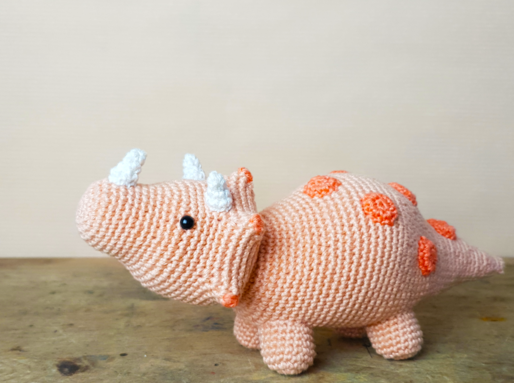 Triceratops Crochet kit