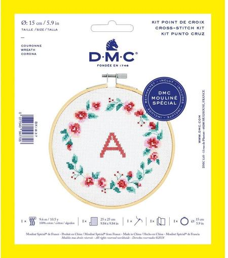 DMC Counted Cross Stitch Kit - Wreath
