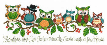 A Few Hoots Cross Stitch Chart