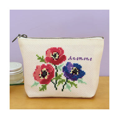 Olympus Flower Embroidery Cross Stitch Kit Flower Pouch no. 9054