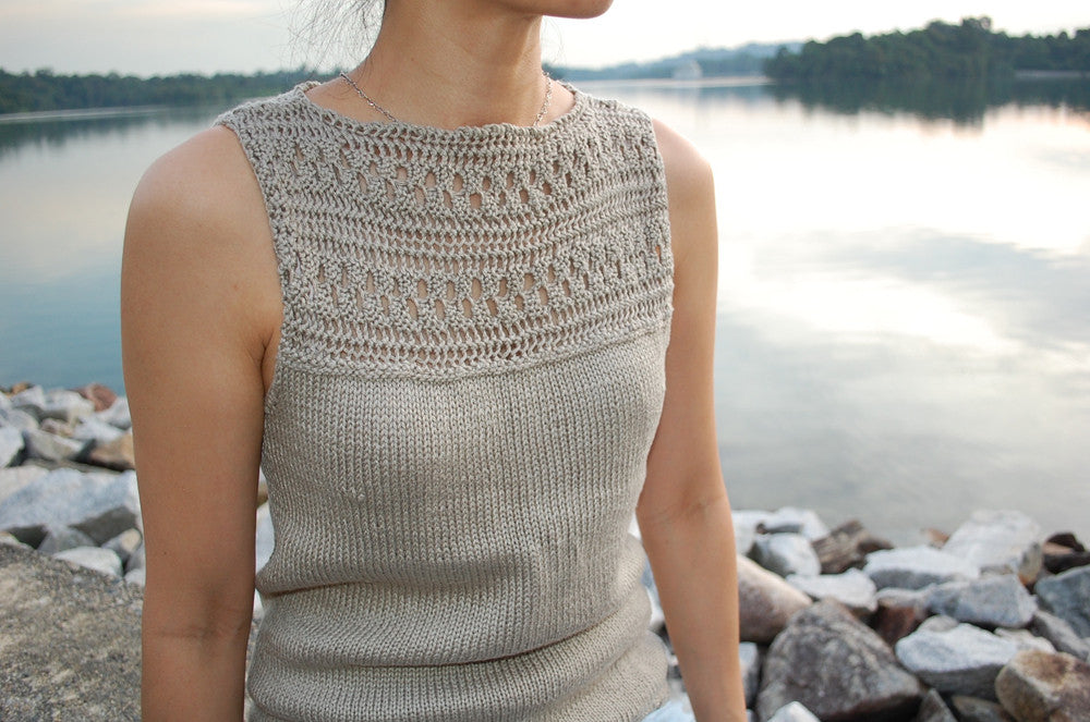 Guided Craft Project - Knit a Lacy Tank Top