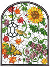 Autumn Stained Glass Cross Stitch Chart