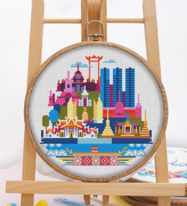 Copy of DMC City~Bangkok Cross Stitch Kit