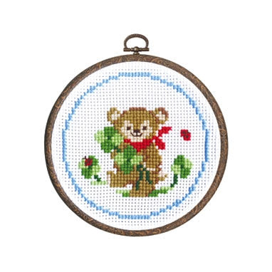 Olympus Cross Stitch Kit - Bear With Clover Leaf