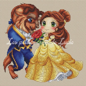 """Beauty and Beast"" Cross Stitch Chart"