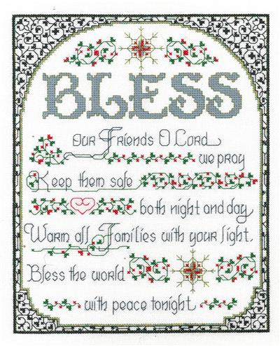 Bless the World with Peace Cross Stitch Chart
