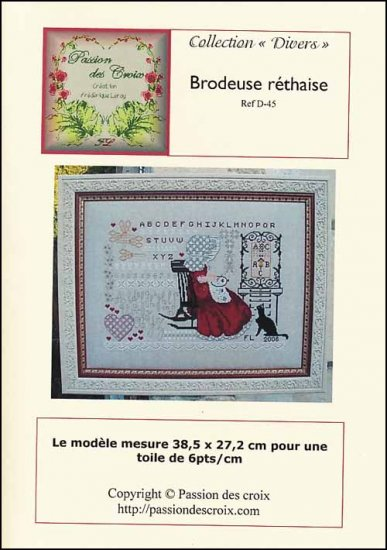 Brodeuse Rethaise Cross Stitch Chart