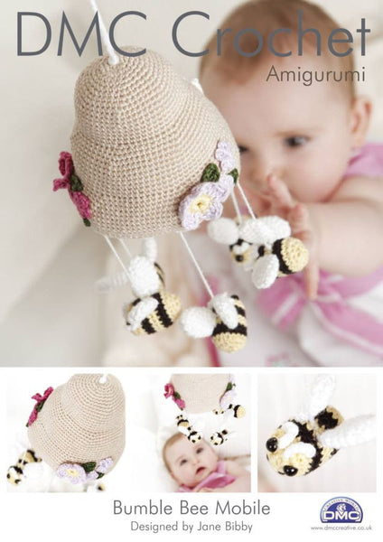 DMC Bumble Bee Crochet Mobile Pattern