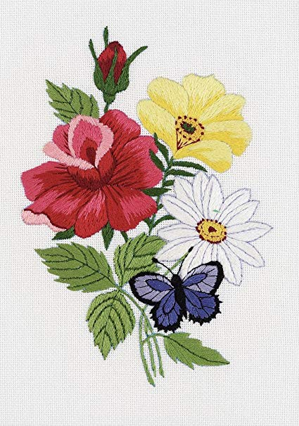Janlynn Butterfly & Floral Embroidery