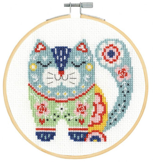 DMC Counted Cross Stitch Kit - Cat