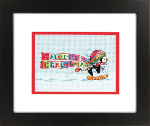 Christmas Penguin Cross Stitch Kit By Dimensions