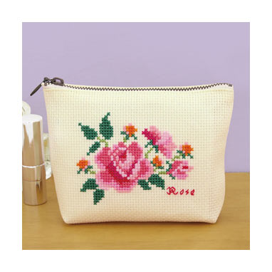 Olympus Flower Embroidery Cross Stitch Kit Flower Pouch no. 9055