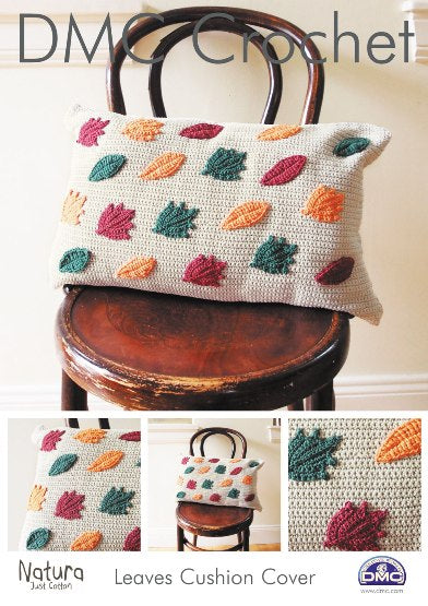 DMC Leaves Cushion Cover Crochet Pattern