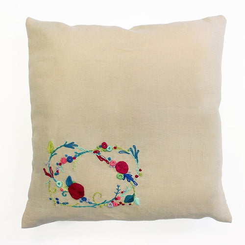 DMC Sweet Meadow Embroidery Complete Cushion Cover Kit