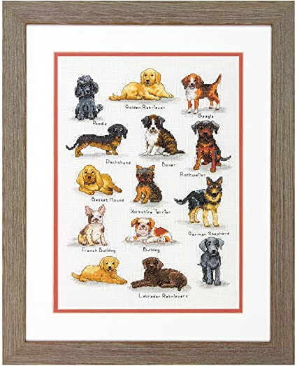 Dimensions Counted Cross Stitch Kit - Dog Sampler