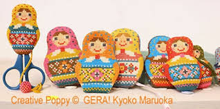 Matryoshka Needlework set by Gera Cross Stitch Chart