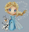 """Elsa And Olaf"" Cross Stitch Chart"