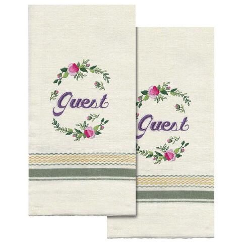 Stamped Guest Towel Embroidery Kit (2 pieces)