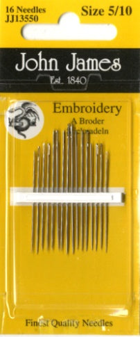 John James Embroidery Needles 5/10 (16 pieces)
