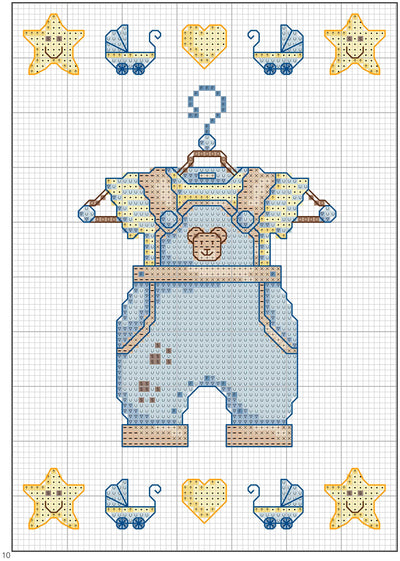 DMC Baby and Kids Cross Stitch Motif