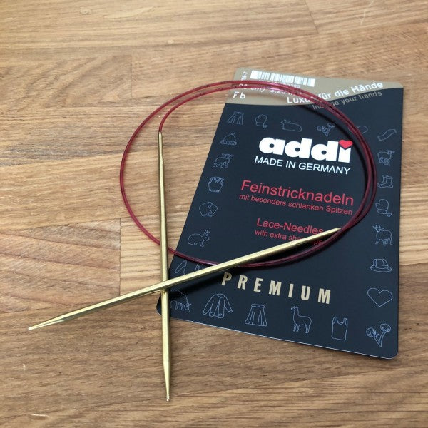 Addi Circular Knitting Needles (extra fine tip; lace knitting)