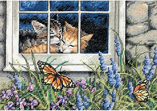 Dimensions The Gold Collection Counted Cross Stitch Kit - Feline Love