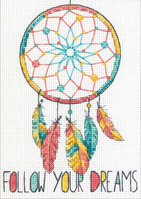 Follow Your Dreams Cross Stitch Kit By Dimensions