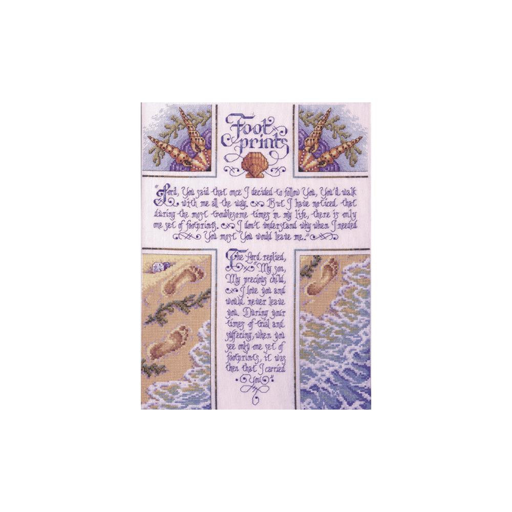 Footprints Cross Stitch Kit